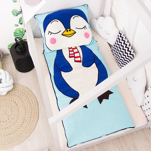 Дитяча постільна білизна Cліпік Пінгвін розьємний