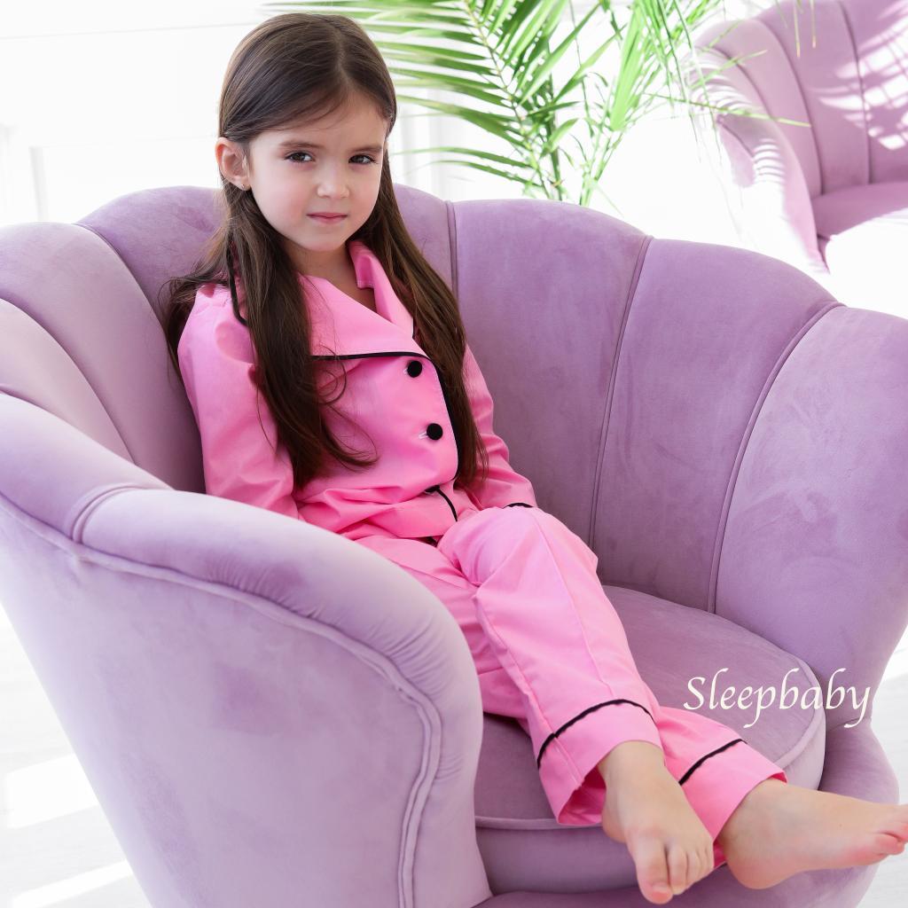 Піжама Рожева с чорним SleepBaby