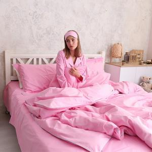 Постільна білизна  Рожева з кантом