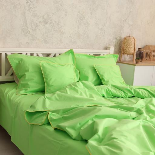 Постільна білизна Зелене яблуко з кантом