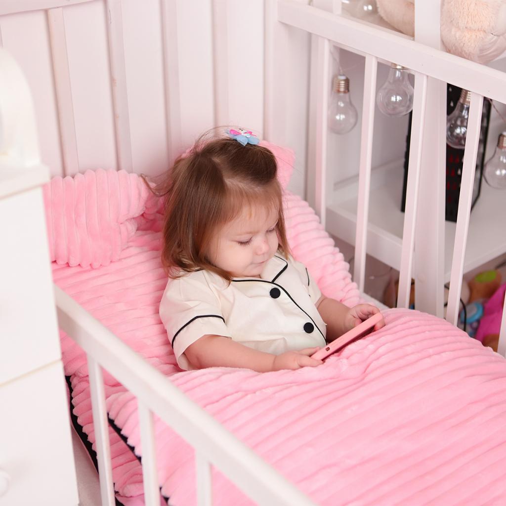 Дитяча постільна білизна Сліпік Рожевий плюшик