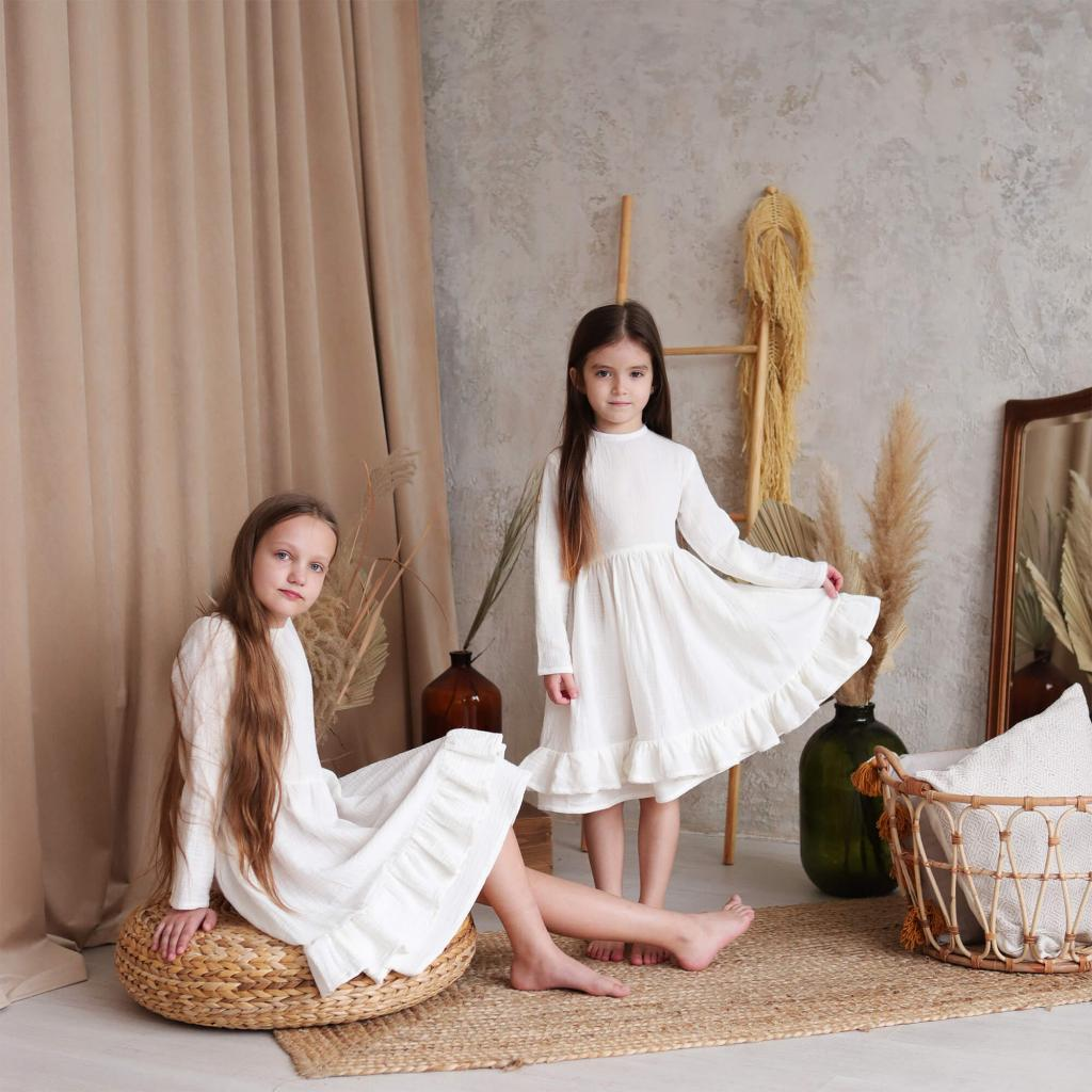 """Дитяча бавовняна сукня """"Меренга"""""""